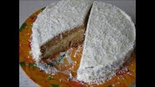 Бисквитный торт без яиц