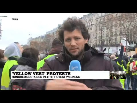 Yellow vests protests: Hundreds detained in 4th protest weekend, central Paris on lockdown