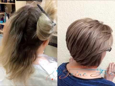 Как замаскировать седину на темных волосах фото
