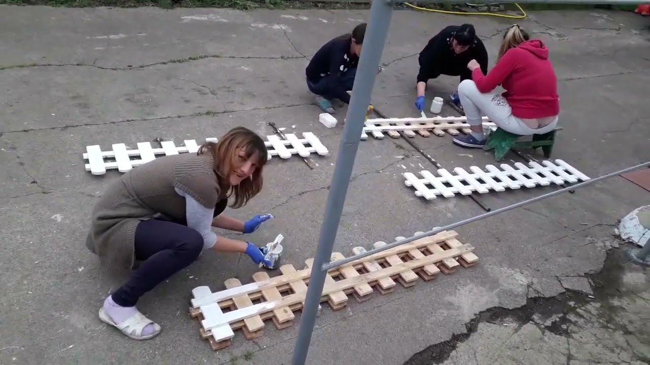 Декоративный заборчик  своими руками.