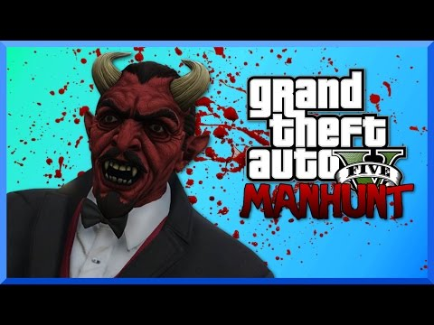 GTA 5 Manhunt Funny Moments - Devil Killer and Scary Explosions!