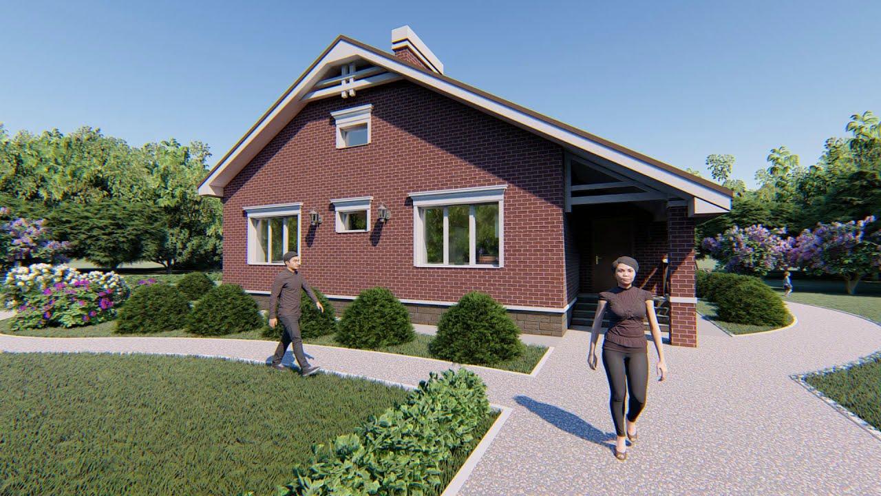 Проект одноэтажного дома «Яхонт»