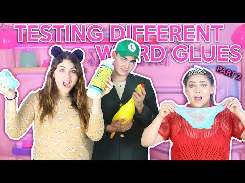 TESTING DIFFERENT GLUES FOR SLIME! part 2  WEIRD GLUES!    Slimeatory #84