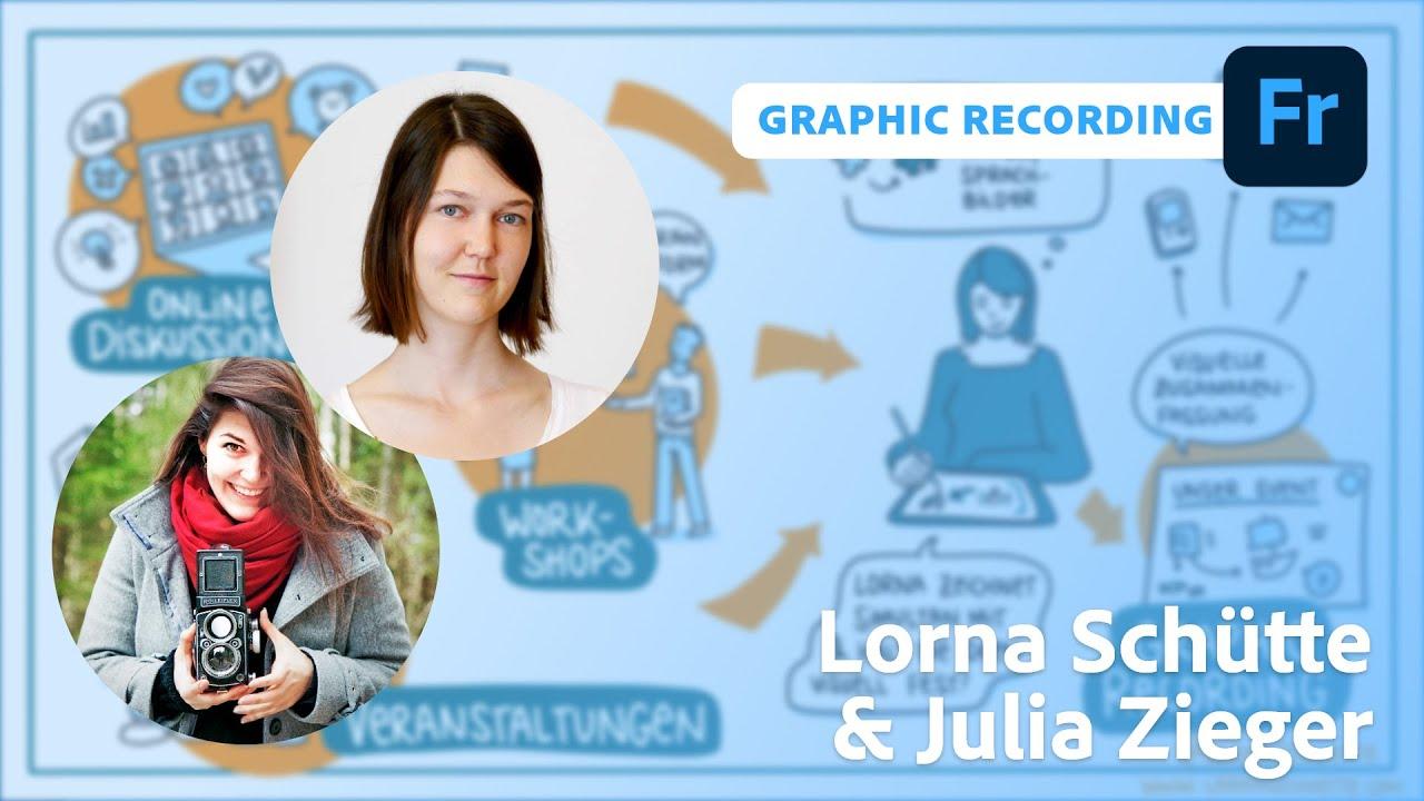 Graphic Recording: Illustration mit Lorna Schütte und Julia Zieger |Adobe Live