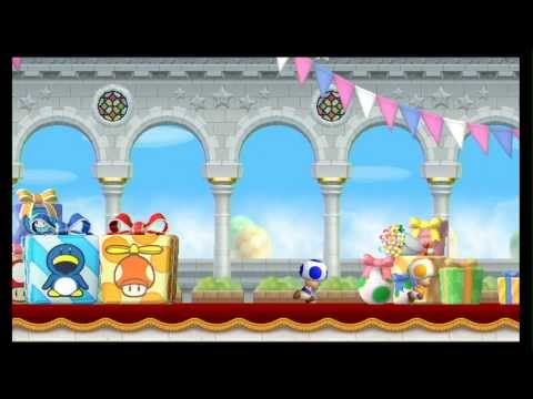 New Super Mario Bros. Wii 100% Walkthrough Part 1 - World 1 (1-1, 1-2, 1-3, 1-T) All Star Coins