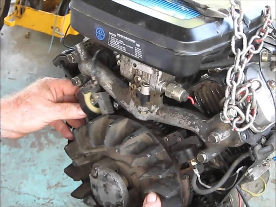 Briggs  Stratton 14 hp V-Twin Igniton Diode Install - YouTube