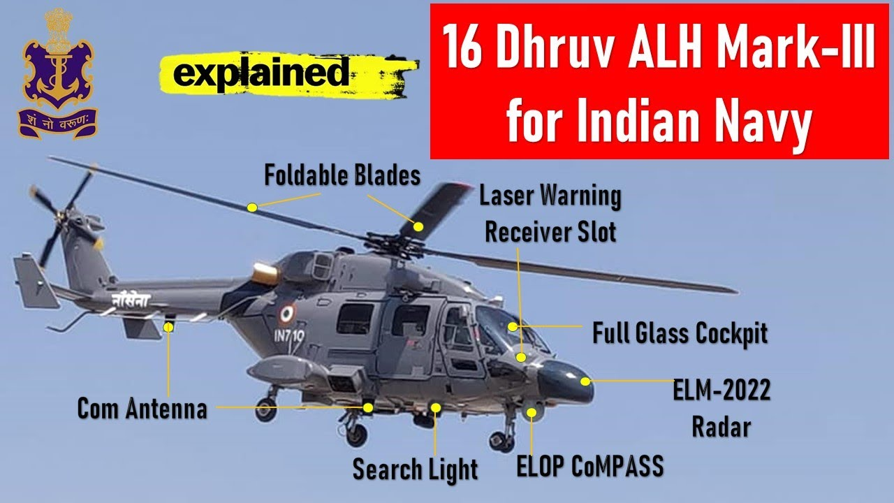 Download Indian Navy to get 16 Advance Light Helicopter Dhruv | ALH Dhruv explained in detail