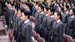 兵庫県宝塚市の宝塚音楽学校で17日、106期生の入学式を開いた。 新...