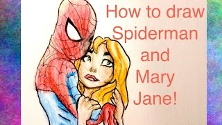 How to draw Spiderman and Mary Jane