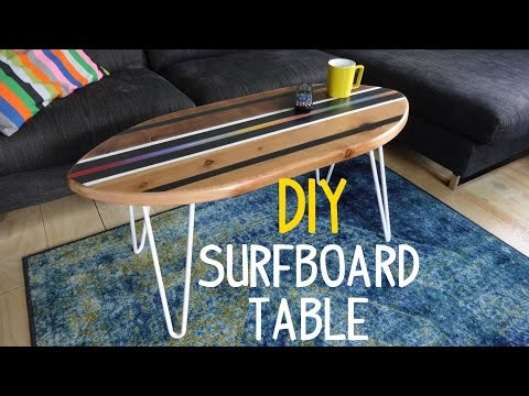 Super Simple Surfboard Table Build!