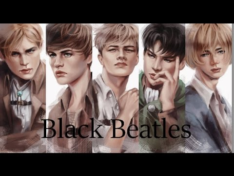 [AoT Boys] Nightcore -  Black Beatles (Switching Vocals)