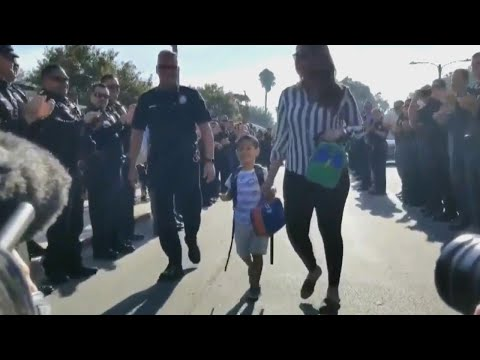 4-Year-Old Son of Fallen Officer Gets Police Escort on First Day of School