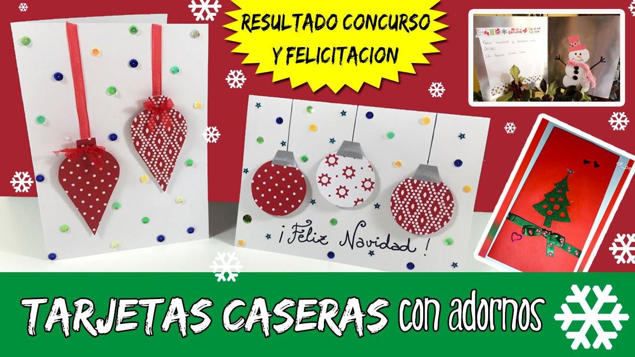 tarjetas navideas caseras con adornos resultado concurso tarjetas