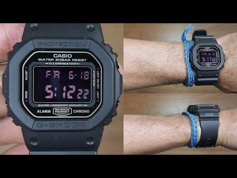 209ace2998cbb CASIO G-SHOCK FULL BLACK DW-5600MS-1 - UNBOXING - YouTube