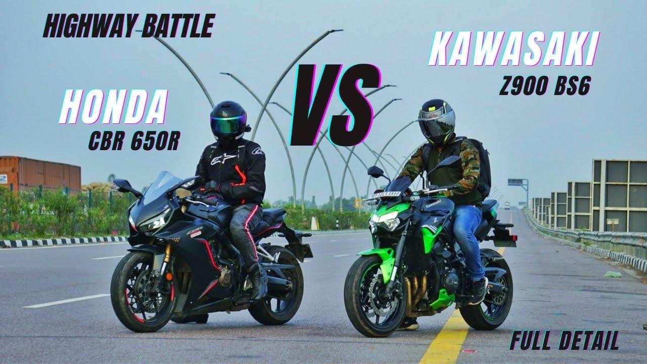 Kawasaki Z900 Bs6 Vs Honda CBR 650R Initial Test Highway Battle | Full Comparison | KSC Vlogs