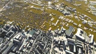 Simulation d'une crue centennale de la Seine en amont de Paris (Val-de-Marne)