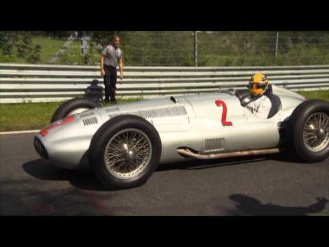 F1 2013 - Mercedes AMG - Hamilton, Rosberg & the Silver Arrows at the Nordschleife