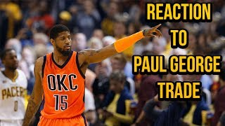 Pacers fan reacts to paul george trade!
