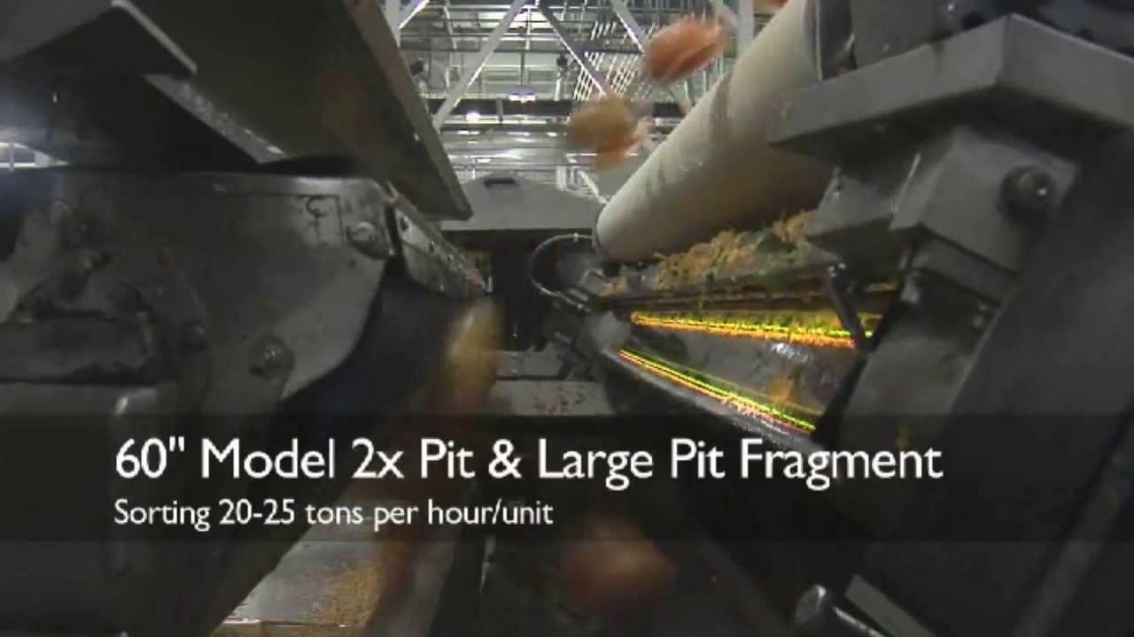Pre-peeled half peach sorter Titan II - TOMRA Sorting