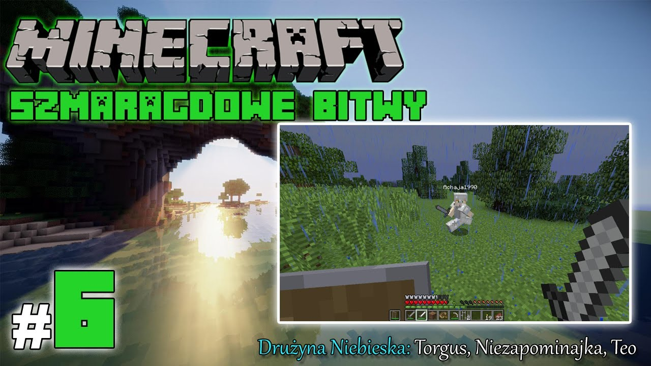 """Minecraft: Szmaragdowe Bitwy [Drużyna Niebieska] odc. 6 – """"Pierwsze starcie!"""""""