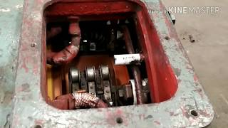 Traction motor of train engine.