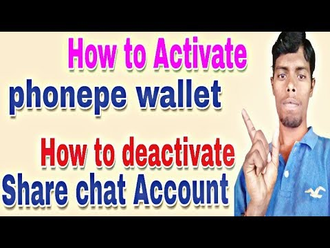 #phonepe #10mm how to activate phonepe wallet    how to deactivate sharechat account   Telugu10mm
