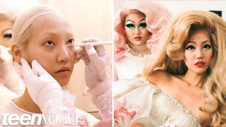 Drag Queen Kim Chi Gives a Supermodel a Makeup Transformation | Teen Vogue