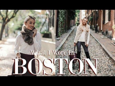 BOSTON OUTFIT DIARIES  //   Travel & Style Vlog  // FASHION MUMBLR