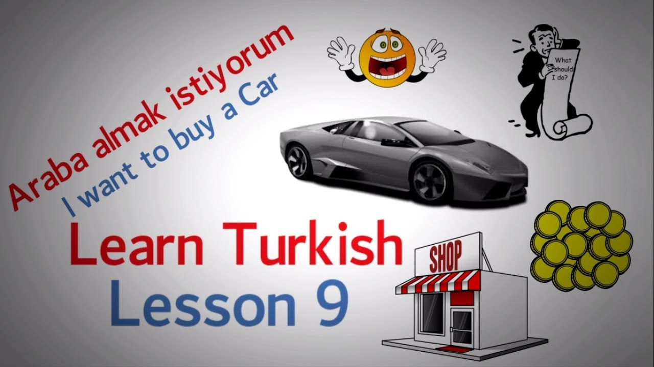 Learn Turkish Lesson 9 - Buying things phrases ( Part 1 )
