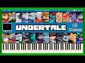 Undertale All Main Bosses Theme Songs Piano Tutorial mp3