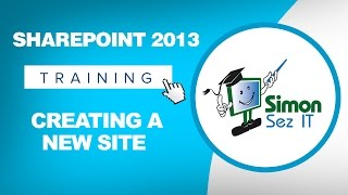 Microsoft SharePoint 2013 Training Tutorial - How to Create a New SharePoint Site(Get my 3 hour course on Introduction to Microsoft SharePoint 2013. Click here to get the free course ▻ http://bit.ly/1fBaoXN Get the full 10-hour course on ..., 2014-03-26T18:00:03.000Z)