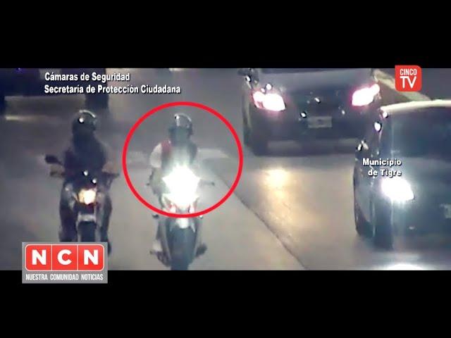 CINCO TV - Hacía delivery con una moto robada pero fue identificado por el BUS.CA.DO.R