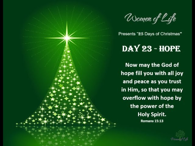 25 Days of Christmas - Day 23 - Hope