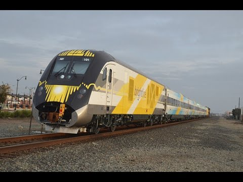 (12-08-16) [HD 60FPS] A Day in the Central Valley - Siemens Brightline Train and More
