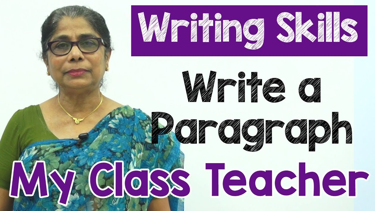 write about teacher
