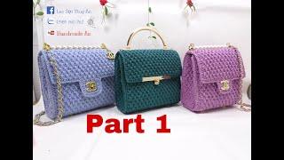 crochet Chanel bag- how to crochet a bag