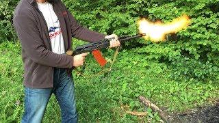 АК-74М КРИВОохолощенный. Попытка стрельбы