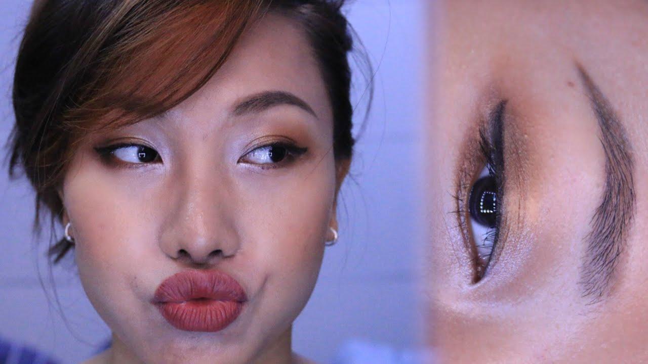 Gold eye makeup - Trang điểm cho da dầu xỉn màu