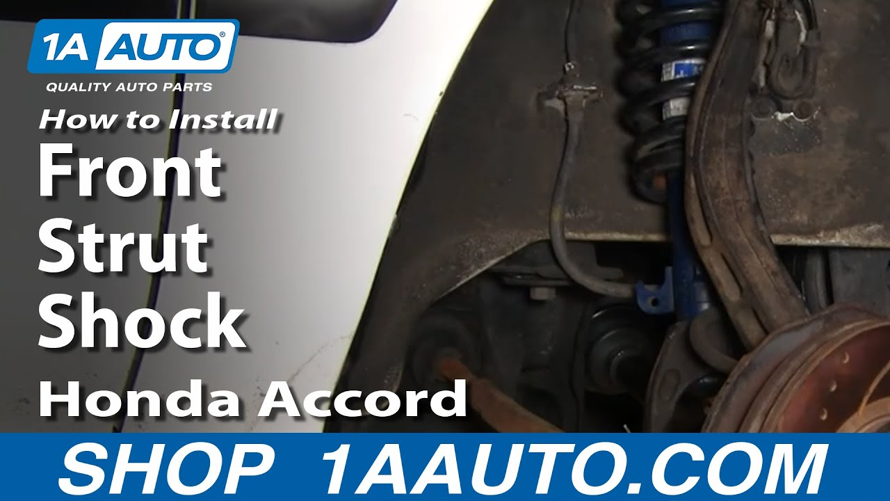 hight resolution of how to replace front struts 94 97 honda accord
