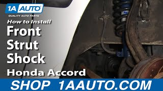 How To Install Replace Front Strut Shock Honda Accord 94-97 1AAuto.com