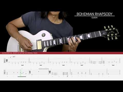 Bohemian Rhapsody Solo Guitar Cover - Queen 🎸  Tabs 
