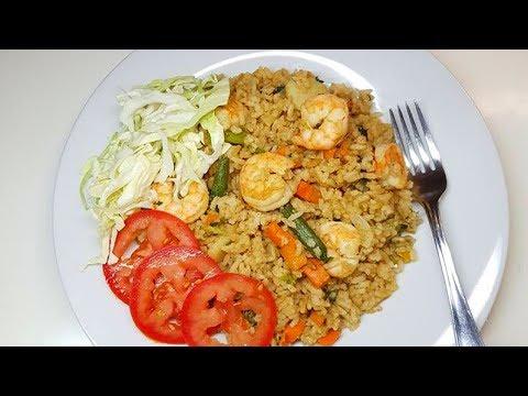 Shrimp Fried Rice, step by step Video Recipe II Real Nice Guyana (HD)