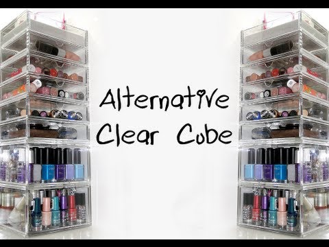 alternative acrylic makeup storage clear cube muji. Black Bedroom Furniture Sets. Home Design Ideas