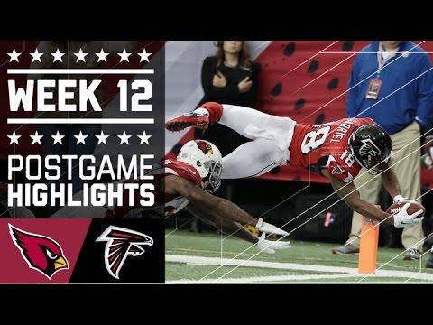 Cardinals vs. Falcons | NFL Week 12 Game Highlights