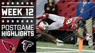 Cardinals vs. Falcons | NFL Week 12 Game Highlights