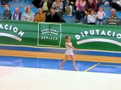 Alba Castro club gimnasia ritmica Guadaira,manos libres,prebenjamin