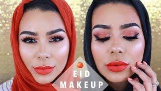 EID MAKEUP #1: Orange & Bronze Glowing Skin | Habiba Da Silva