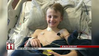 Neck guards now mandatory for Fargo, WF hockey players after Fargo boy's throat cut at practice