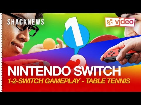 Nintendo Switch: 1-2-Switch Gameplay - Table Tennis