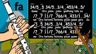 Gambar cover not angka suwe ora jamu + recorder tutorial